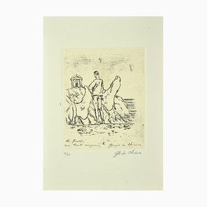 Giorgio De Chirico, Enigma, Original Etching, Mid-20th Century