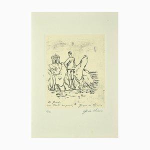 Giorgio De Chirico, Enigma, Originale Radierung, Mitte 20. Jahrhundert