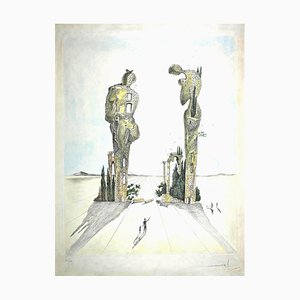 Salvador Dali, Archaeological Reminiscence of Millet's Angelus, Original Etching, 1983