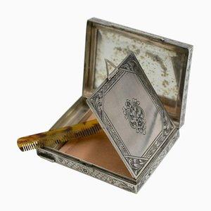 Boîte à Poudre Vintage en Argent, XXe siècle