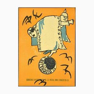 Mino Maccari, the Wild No. 2, 1935, Originales Vintage Kunstmagazin