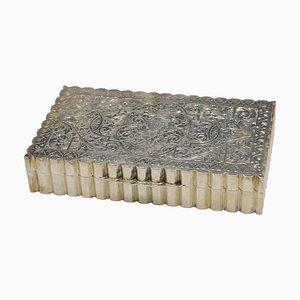 Vintage Silber Box, Frühes 20. Jahrhundert