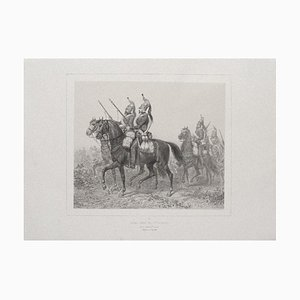 Denis-Auguste-Marie Raffet, the Siege of Rome, Original Lithograph on Paper, 1830s
