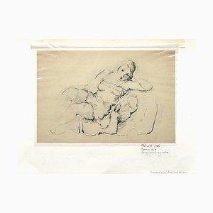 Pierre Ernst Kohl, Retrato de mujer, Litografía original, Siglo XX