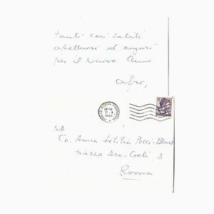 Afro Basaldella, Autogramm Frohes Neues Jahr Karte signiert, 1963