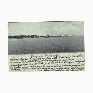 Giovanni Nino Costa, Memories from Marina di Pisa Autograph, Postcard, 1899
