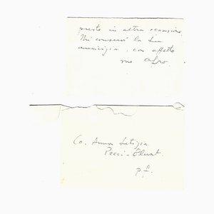 Afro Basaldella, Autogrammkarte signiert, 1958-59