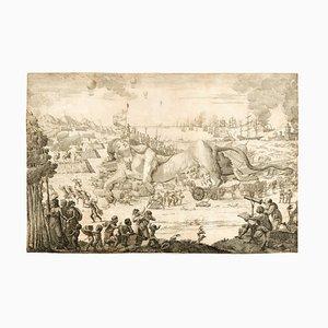 Sconosciuto, Exanimate Sphynx, Acquaforte originale 1796/99