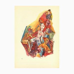 George Grosz, Liegend, 1923