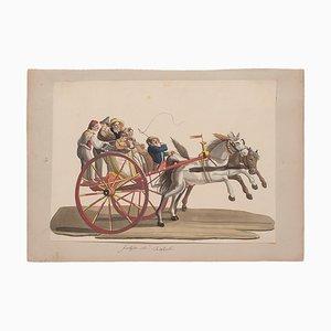 Michela De Vito, Galesso di Resina Casale, Original Gouache, 19th Century