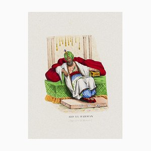 Unbekannt, Kaiser von Marokko, Originale Lithographie, 1856