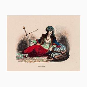 Unbekannt, Persische Frau, Originale Lithographie, 1848