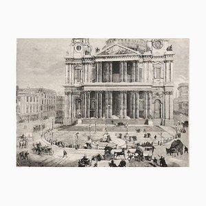 Unbekannt, Kirche St. Paul, Originale Lithographie, 19. Jahrhundert