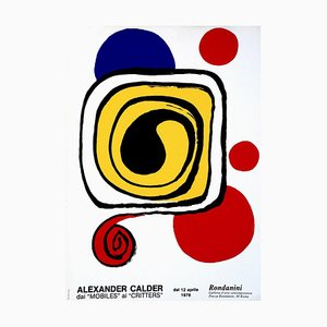 after Alexander Calder, from Mobiles to Critters, Vintage Lithographed Poster, 1976