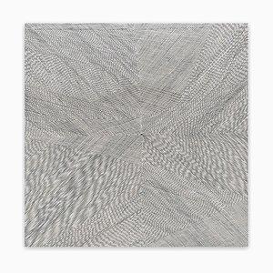 Aura lilla nera, pittura astratta, 2020