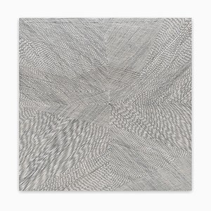 Schwarze lila Aura, abstrakte Malerei, 2020