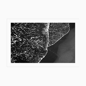 Black and White Seascape of Pacific Foamy Shoreline, Limited Edition 2020
