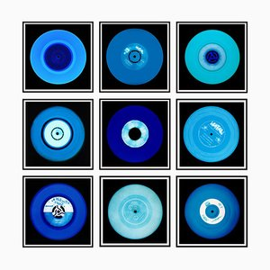 Vinyl Collection, Nine Piece Blues Installation, Pop Art Color Photography 2014-2020