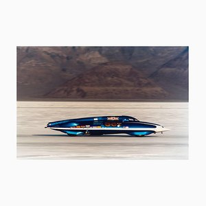 Lsr Streamliner II, Bonneville, Utah, Car in Landscape Color Photography 2003