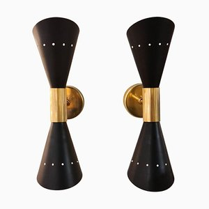Italian Modern Sconces in the Style of Stilnovo, Set of 2