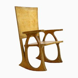 Parchment Paper and Wood Sculptural Chair by Carlo Bugatti