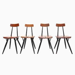 Pirkka Chairs by Ilmari Tapiovaara, Set of 4