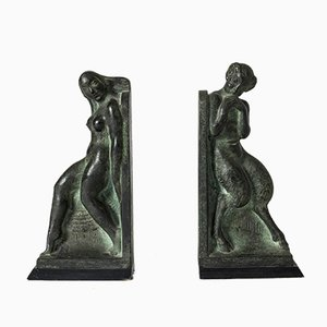 Bronze Bookends by Axel Gute, Set of 2