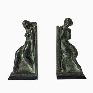 Serre-Livres en Bronze par Axel Gute, Set de 2