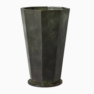 Vase en bronze patiné de GAB