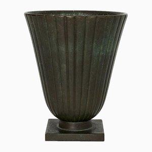 Patinierte Bronzevase von GAB