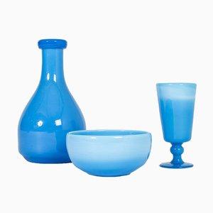 Gefäße aus Glas von Erik Höglund, 3er Set