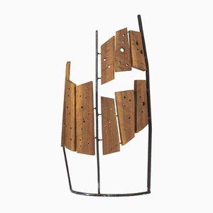 Sculpture en bois et métal par Fred Leyman
