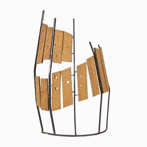 Holz und Metall Skulptur von Fred Leyman