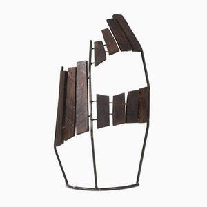 Wood and Metal Sculpture by Fred Leyman