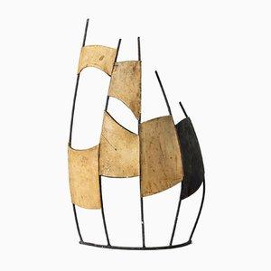 Sculpture en cuir et métal par Fred Leyman