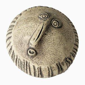 Steinzeug-Gesichtsskulptur von Bengt Berglund