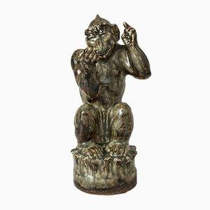 Steinzeug-Affenfigur von Knud Kyhn