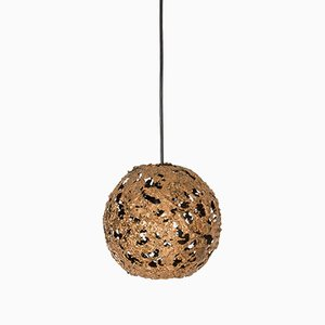 Brutalist Copper Ceiling Lamp