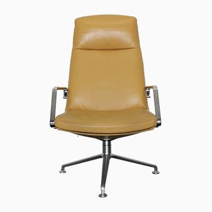 Fk 86 Leather Lounge Chair by Preben Fabricius & Jørgen Kastholm for Walter Knoll / Wilhelm Knoll, 1970s