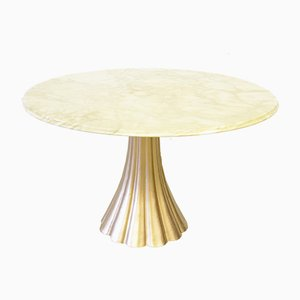 Marble & Cast Iron Dining Table by Angelo Mangiarotti, 1970s