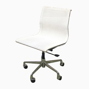 Italian White Office Swivel Chair by Charles & Ray Eames for ICF De Padova, 1970s