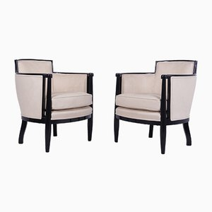 French Art Deco Armchairs, 1925, Set of 2