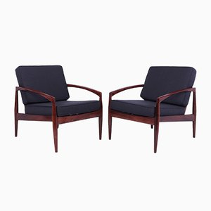 Mid-Century Lounge Chairs, Denmark, 1950, Set of 2