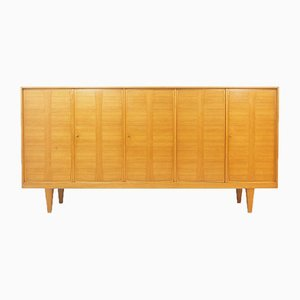 Ash Wood Sideboard with 5 Doors, 1960s