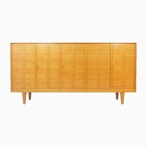 Ash Wood Sideboard with 5 Doors, 1960s