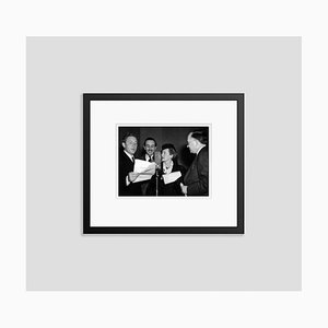 Walt Disney & Friends Microphone Reading Archival Pigment Print Framed in Black by Everett Collection