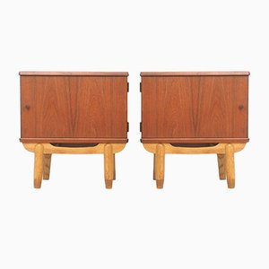 Tables de Chevet en Teck, Danemark, 1950s, Set de 2