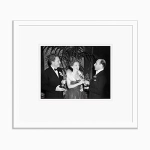 Bette Davis & Spencer Tracy Oscar Winners Archival Pigment Print Framed in White by Everett Collection