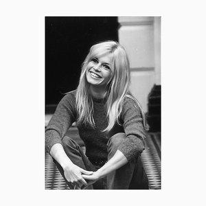 Brigitte Bardot Silver Gelatin Resin Print Framed in Black by Cattani