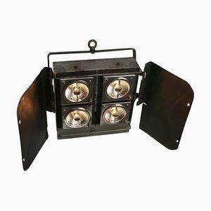 Projecteur en métal de théâtre vintage
